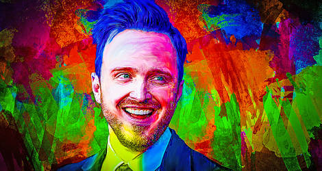 Aaron Paul by MiyamotoMusa by miyamotomusa