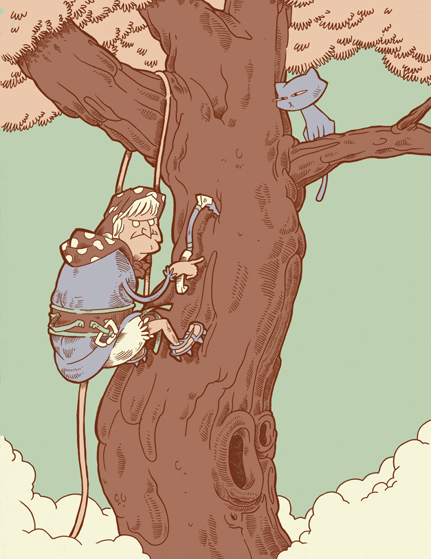 Illustration Friday: Climbing. by Fool-on-the-Planet
