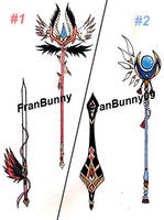 Auction : Weapon Adopt #1-2 [OPEN] by FranBunny09