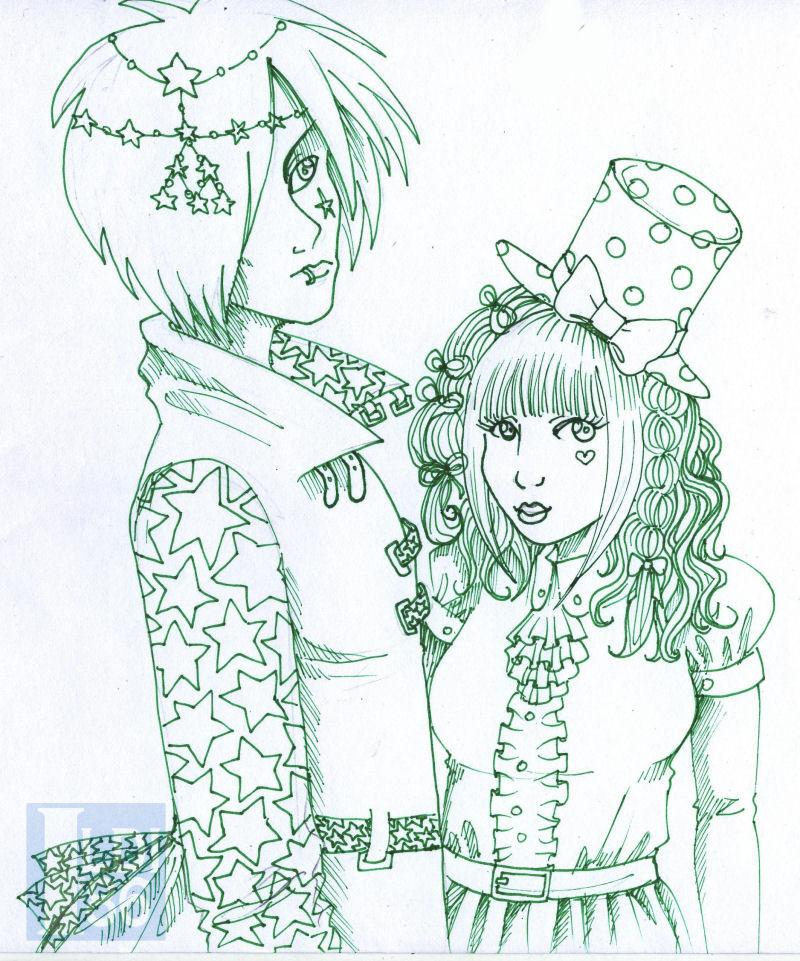 Starry Couple by Pumpkin-Queen-Ildi