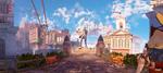 Columbia 1 - Bioshock Infinite Panorama by 2900d4u