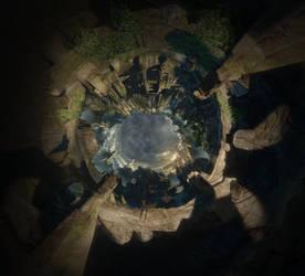 Shrine - Hollow Planet Panorama