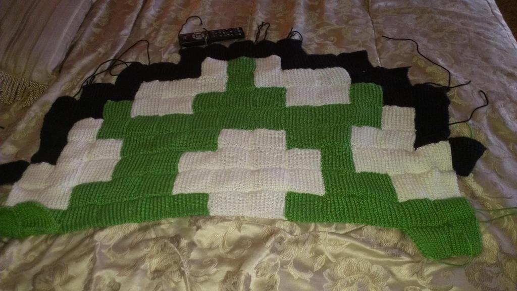 mushroom blanket w.i.p by YarnHoardingDragon