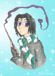First Year Severus in the Snow by snapefanclub
