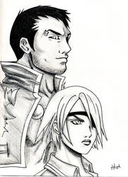 Fujin and Raijin by FujinKazeno
