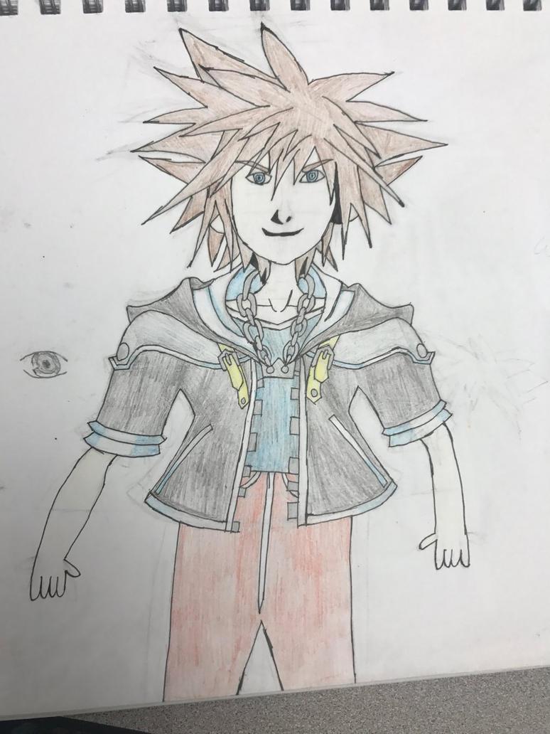 Sora from Kingdom Hearts by Seagirl33