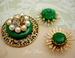 3 jade green jewelry magnets by janedean