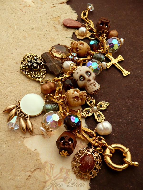 Skulls and Crosses Bracelet by janedean
