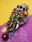 Dia de los Muertos brooch