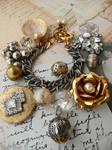 Faded glamour charm bracelet