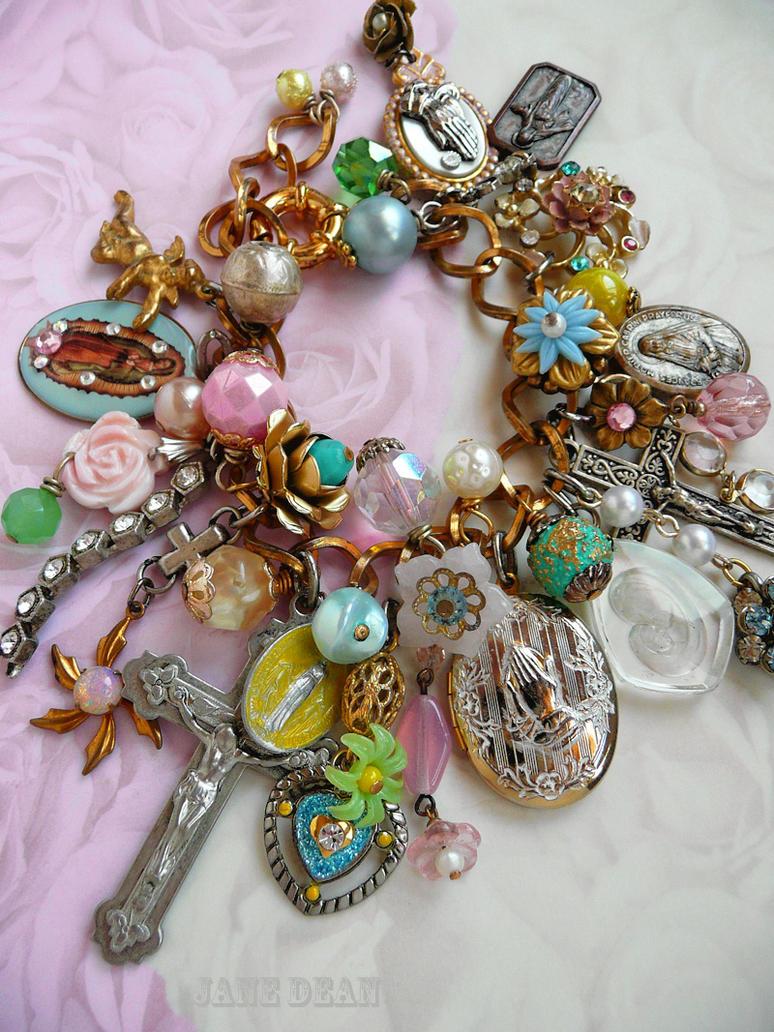 catholic kitsch charm bracelet by janedean on deviantart