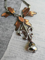 Patina fleur necklace by janedean