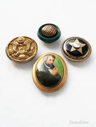 Abraham Lincoln magnets by janedean
