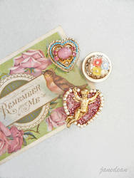 Cherub heart fridge magnets by janedean