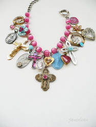 Pastel Catholic charm bracelet by janedean