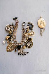 Glam rhinestone charm bracelet by janedean