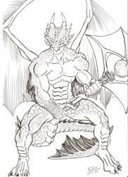 Draco Warrior by EsaulFurtado