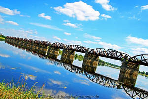 beautiful bridge reflection by MT-Photografien