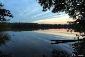 Beautiful evening mood on the new lake 4