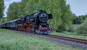 Steam locomotive on special trip by MT-Photografien