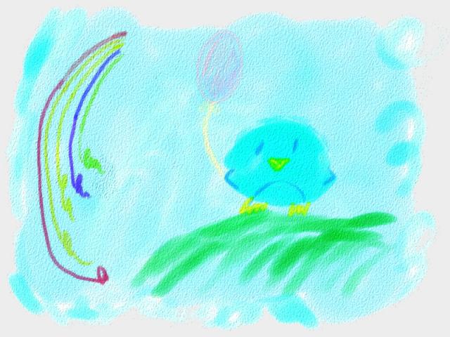 Watercolor Pengu by hybridzerotenshi