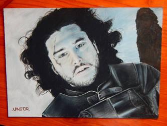 Jon Snow dead by Unfor-street-arT