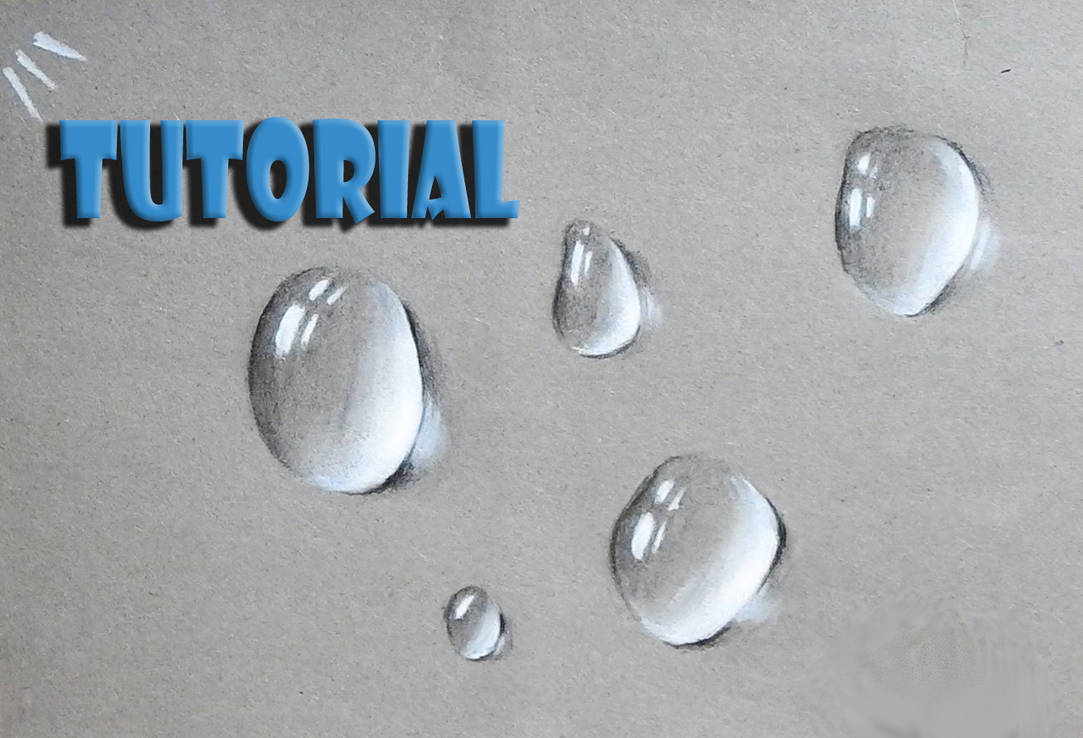 How to draw a water drop video tutorial bellow by unfor street art