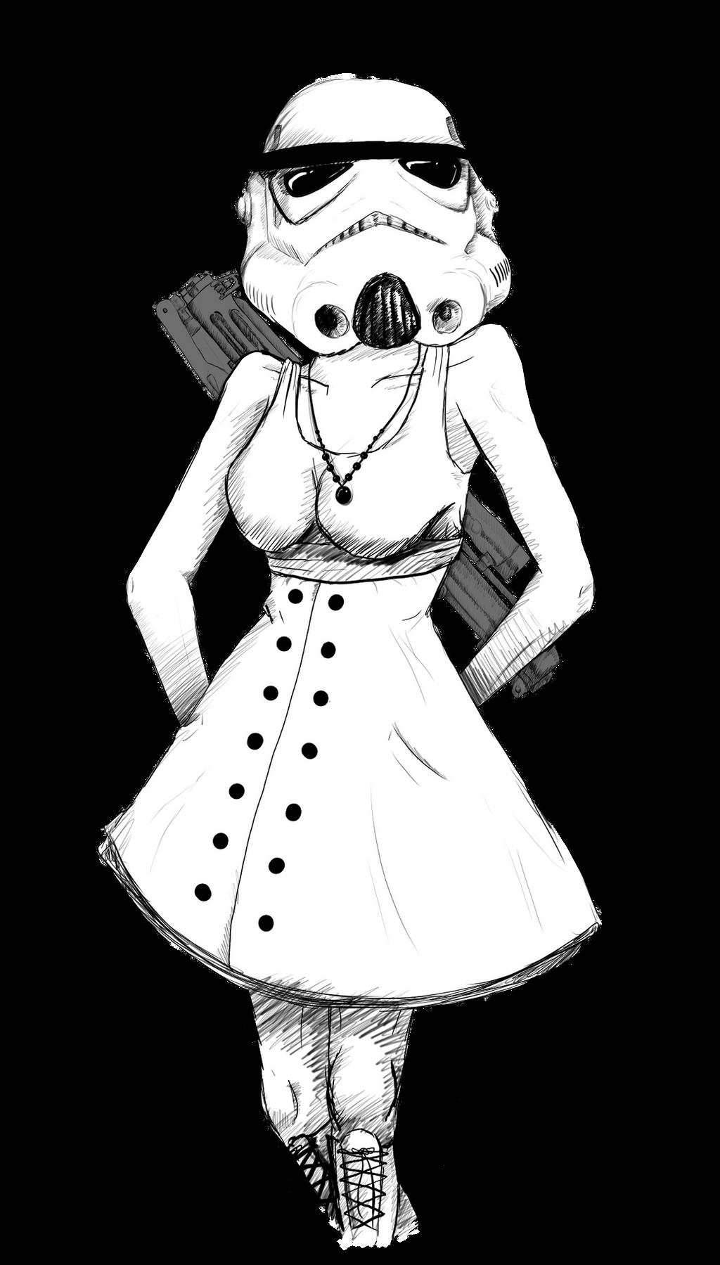 stormtrooper cutie sketch by sylunahirokashi on deviantart