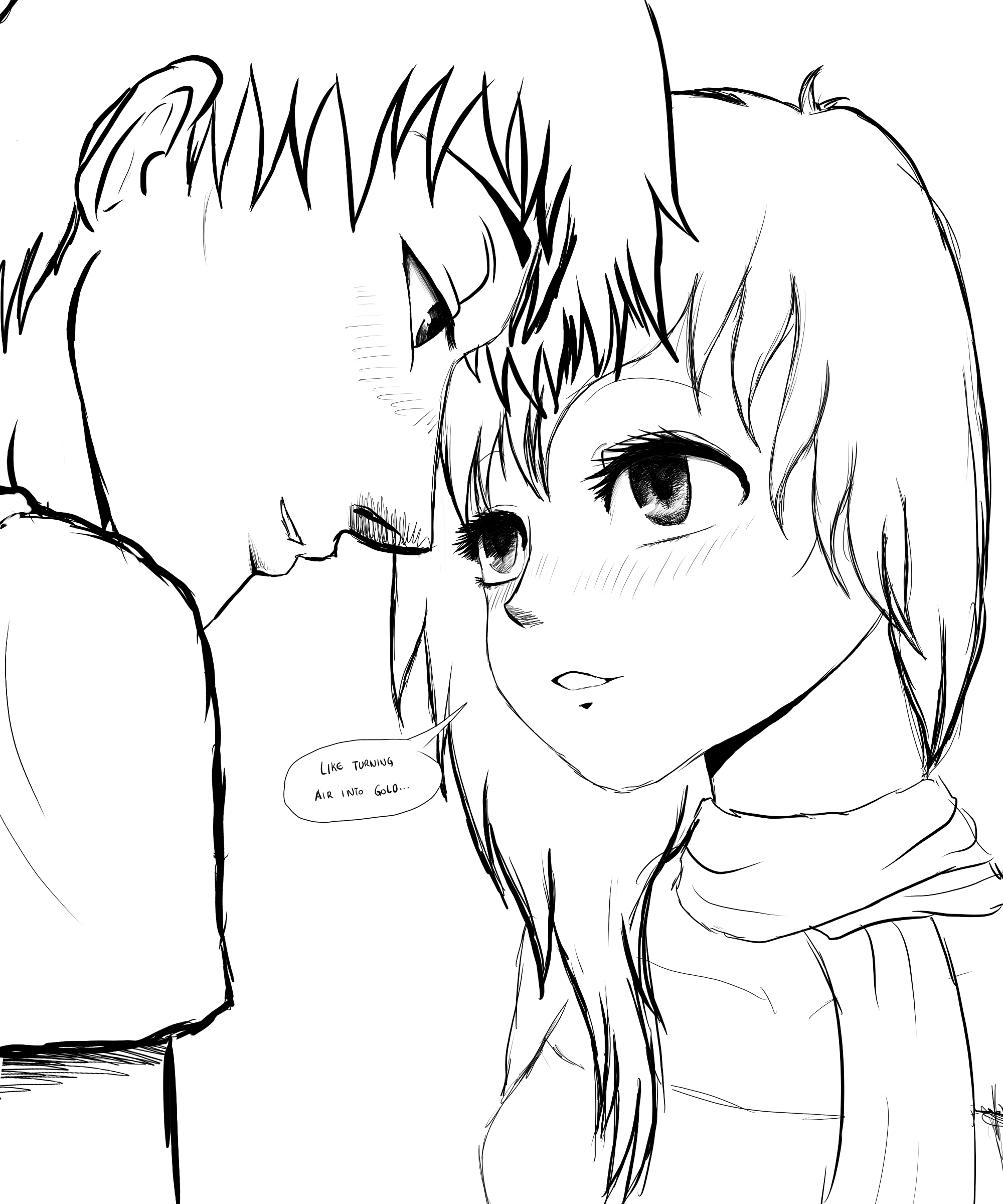 Wade And Luna (OC Manga Couple SKETCH) By SylunaHirokashi On DeviantArt