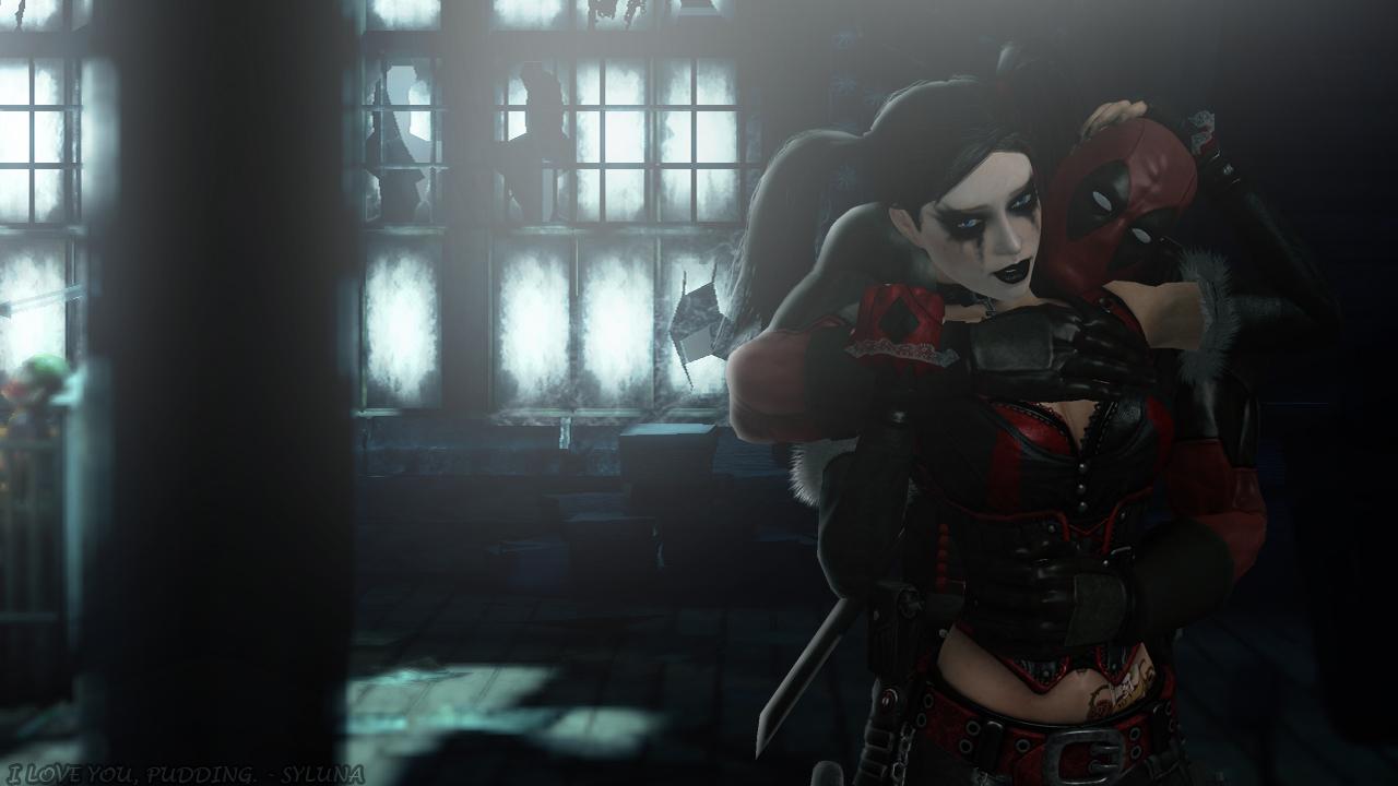 Harley Quinn and Deadpool - I Love You, Pudding by SylunaHirokashi