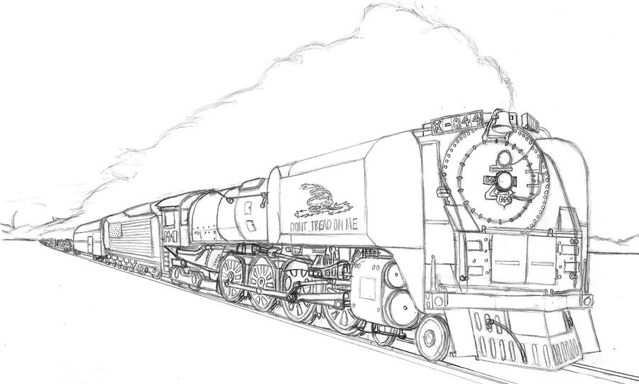 union pacific coloring pages | Dont Tread On Me-UP 844 by Gaara2112 on DeviantArt
