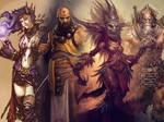 Diablo characters - wallpaper