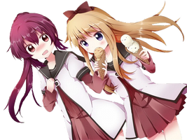 Yuru Yuri Kawaiiness ^0^!! [Vector] by Blue-Rika