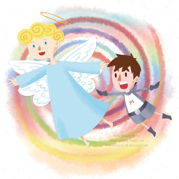 O anjo Gabriel, o Miguel e o livro de papel by manuelamorais