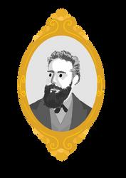 Wilhelm Conrad Rontgen Portrait by steph68a