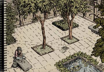 University of Barcelona by ArkaitzIlustracion