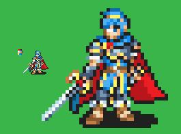 Marth - GBA FE style by Captain-Supreme