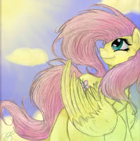 Fluttershy by RoseminttheNeko