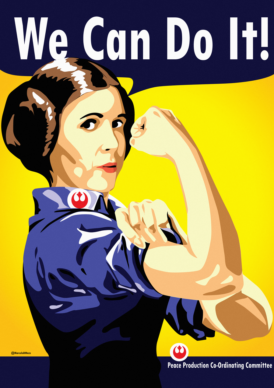 Princess Leia as Rosie the Riveter #illustration #geeky #feminism