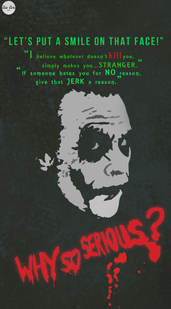 Joker Mobile Wallpaper 1 By Asharts6