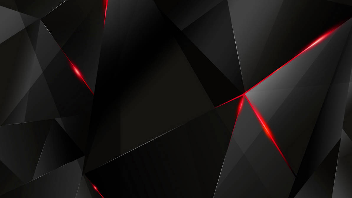 Wallpapers Red Abstract Polygons Black Bg Re By