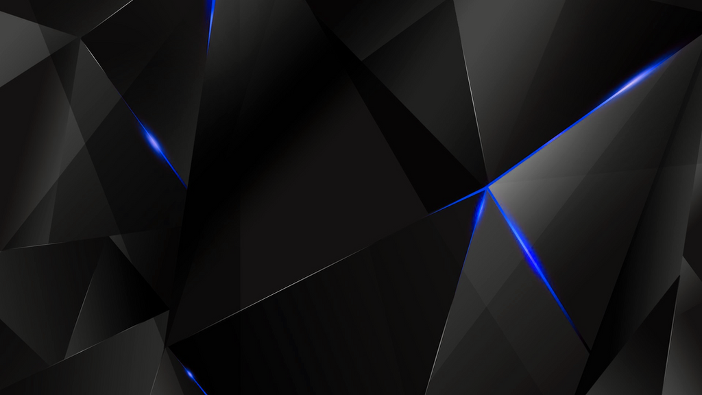Wallpapers - Blue Abstract Polygons (Black BG) by ...