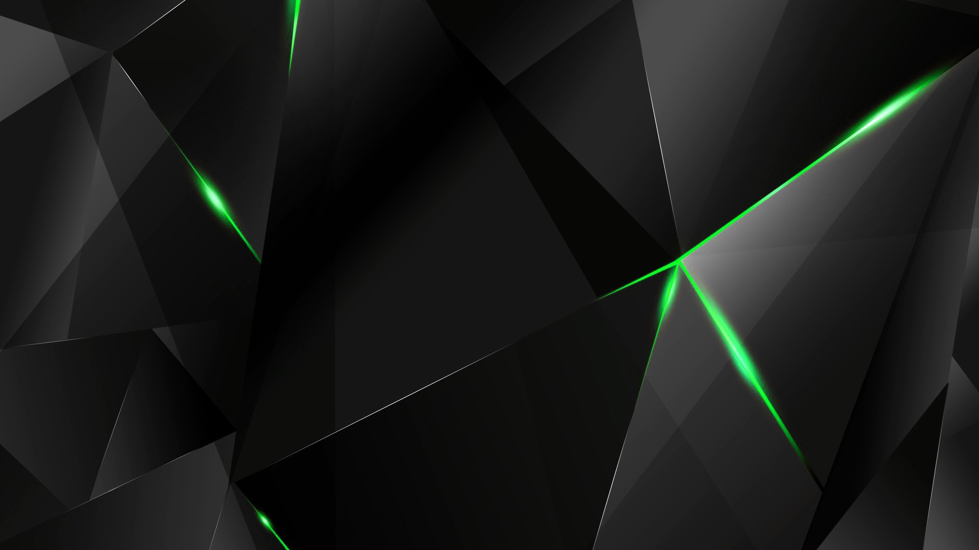 Wallpapers Green Abstract Polygons Black Bg By Kaminohunter On Deviantart