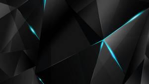 Wallpapers - Cyan Abstract Polygons (Black BG)