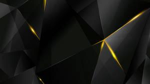 Wallpapers - Yellow Abstract Polygons (Black BG)