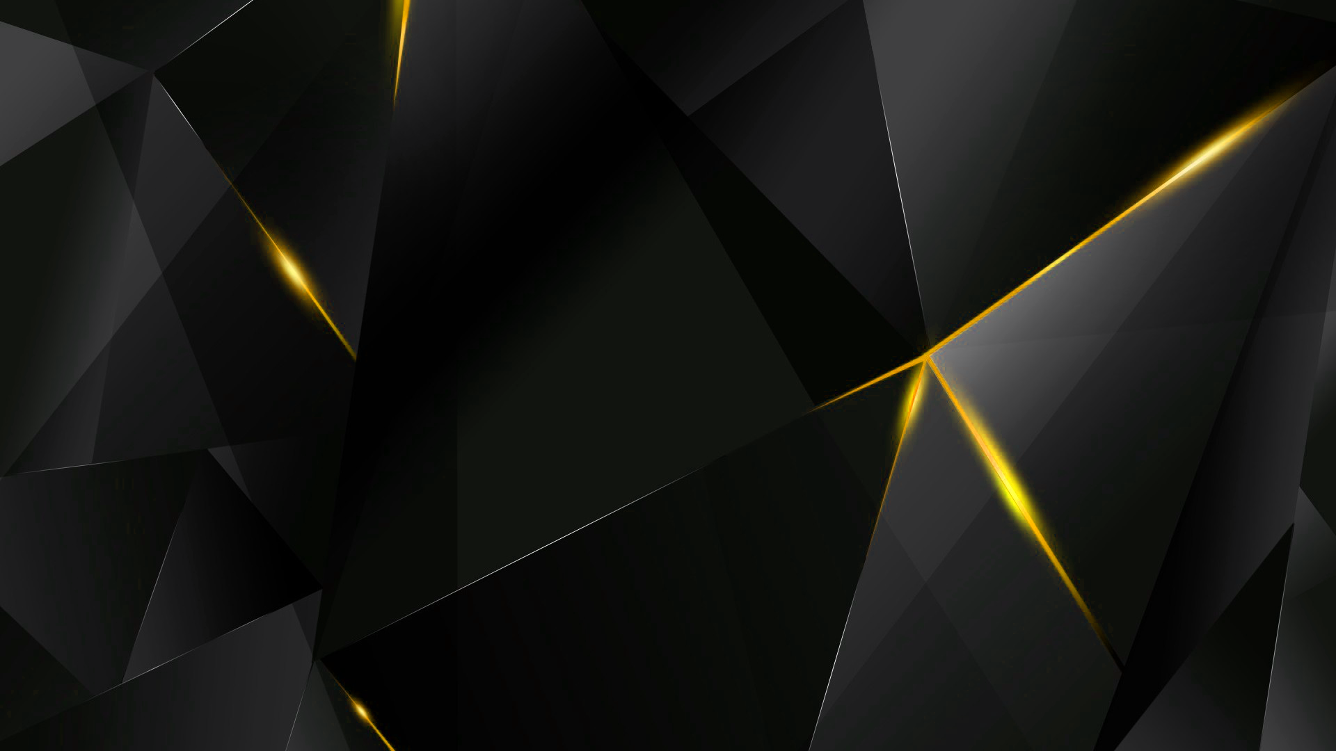 Wallpapers Yellow Abstract Polygons Black Bg By Kaminohunter