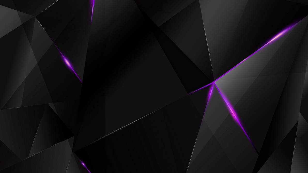 Wallpapers Purple Abstract Polygons Black Bg By Kaminohunter
