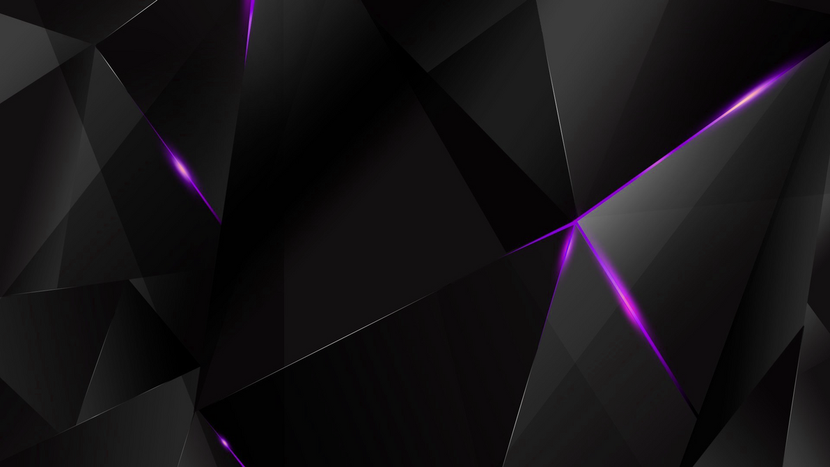 Wallpapers purple abstract polygons black bg by for Black and purple wallpaper