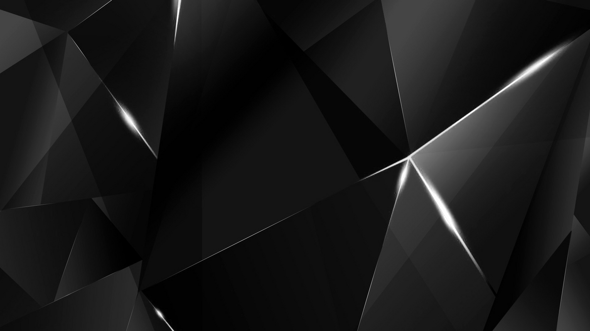 wallpapers white abstract polygons black bg by