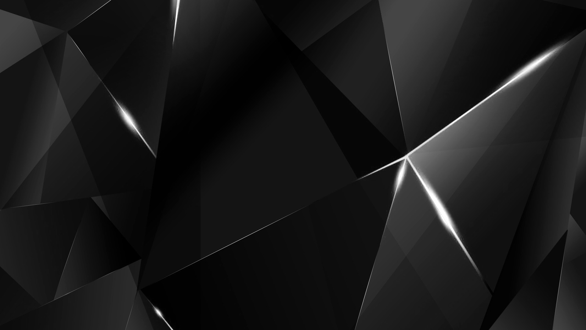 10 Top Black And Blue Shards Wallpaper Full Hd 1080p For: White Abstract Polygons (Black BG) By